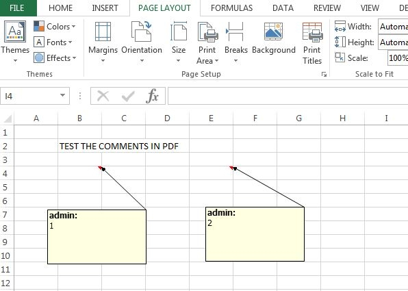 excel file with comments